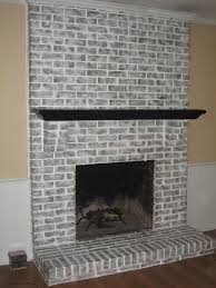 brick fireplace brick fireplace had been painted metallic orange by previous owner used 4