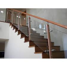 wooden glass railing glass staircase railing क च क stair railings glass 1