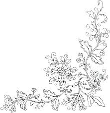 Flower Border Coloring Pages At Getdrawingscom Free For Personal
