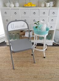 folding chair makeover spray chalk paint handlettered unwind