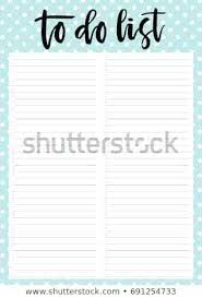 Cute Contact List Template To Do List Template Cute A 4 Template Do List Lettering