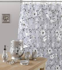 gray and brown shower curtain. 7 piece melrose gray shower curtain, hooks and resin wastebasket accessory set brown curtain -
