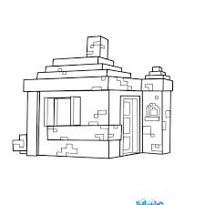 Voici Un Tr S Joli Coloriage D Une Maison Dans Minecraft Un