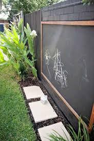 Kids Chalkboard Garden Fence