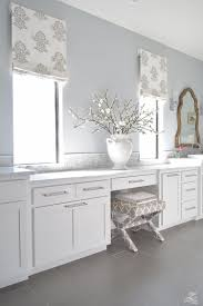 faux roman shade. Faux Roman Shade Details White Luxury Master Bath Carrara Marble Shaker Cabinets Benjamin Moore C
