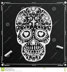 день доски мертвого эскиза черепа цветок сахара притяжки тату также