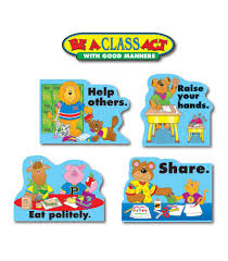 Good Manners Chart For Class 1 Good Manners Bulletin Board Set