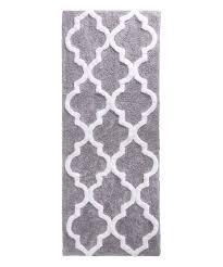 love this silver trellis cotton bath mat