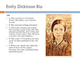 powerpoint biography emily dickinson biography ppt katrca xyz transcript of emily