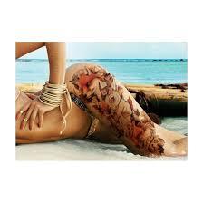 B Top Voděodolné Dočasné Tetování Motiv Liška Barevná