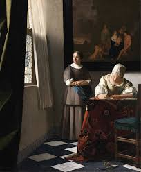 the letter by vermeer national gallery of ireland photo louvre