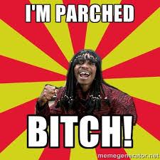 I'm parched BITCH! - Dave Chappelle/RickJames | Meme Generator via Relatably.com