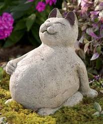 cat garden statue. Volcanic Ash Lucky Cat Figurine By Wind And. Outdoor StatuesGarden Garden Statue A
