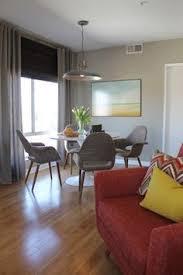 modern dining style room saarinen style tulip table and mid century modern lounge chair modern