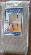 item 6 sure fit stretch pique shorty dining room chair slipcover cream sure fit stretch pique shorty dining room chair slipcover cream