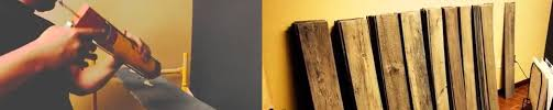 reclaimed barn wood accent wall