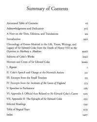 selected writings of sir edward coke vol i online library of  title page 0462 01 toc