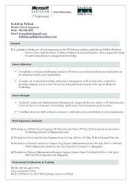 Exchange Administrator Resumes Exchange Administrator Resume Successmaker Co
