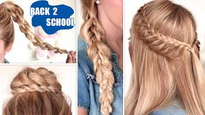 Very Easy Cute Hairstyles Easy Back To School Hairstyles Cute Quick And Easy Braids For