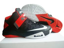 lebron red shoes. lebron james zoom soldier 6 black white red shoes un13549