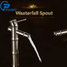 aliexpress com poiqihy brushed nickel bathroom faucet bamboo style sinlge handle hole vessel sink mixer tap deck mounted from reliable deck mounted
