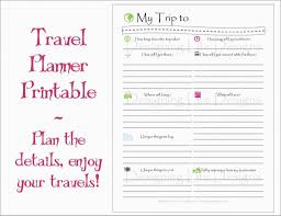 Free Itinerary Template Free Download Template Design