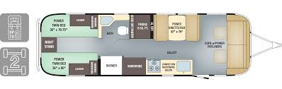 2017 Airstream Classic 30 Twin Floor Plan