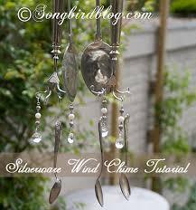 wind chimes made from vintage silverware http://www.songbirdblog.com