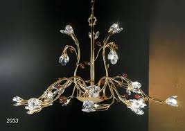 Kronleuchter In 24kt Goldenem Messing Und Kristall Idfdesign