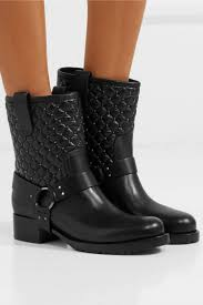 womens valentino boots valentino garavani the rockstud spike quilted leather biker