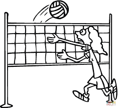 Small Picture Volleyball coloring page Free Printable Coloring Pages