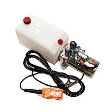 12 volt hydraulic pump ebay Dump Trailer Pump Wiring Diagram double acting hydraulic pump 12v dump trailer 6 quart wiring diagram on a dump trailer pump system