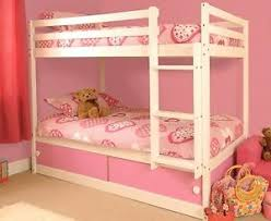 girls white bunk beds. Wonderful Beds Image Is Loading GirlsWoodenPinkWhiteBunkBedSlideDrawers To Girls White Bunk Beds