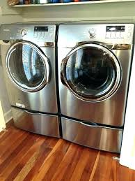 wooden washer and dryer pedestal for new display ideas set top load colored silver circle