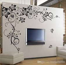 home fashion decorative pvc wall sticker beautiful flower vinyl wall paper decal art sticker for living room bedroom sofa tv background wall decals kids  on vinyl wall art stickers with home fashion decorative pvc wall sticker beautiful flower vinyl wall