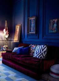 Red And Blue Living Room 10 Ways To Create Moody Interiors Red Velvet Blue Interiors And