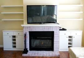 Built In With Fireplace Chic Fireplace Makeover With Fake Built Ins Miss Bizi Bee