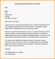 how to write thank you letter sample internship thank you letter