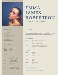 Actor Resume Amazing Brown Simple Photo Acting Resume Templates By Canva