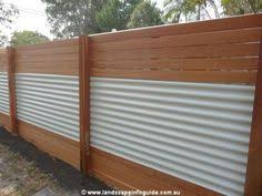 Contemporary Sheet Metal Fence Horizontal Wood Google Search Intended Decorating Ideas