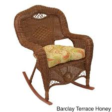 Blazing Needles All Weather U Shaped Outdoor Rocker Chair