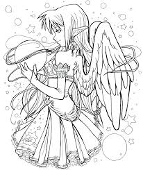 Anime Fairy Coloring Pages Anime Coloring Pages Various Anime Pages