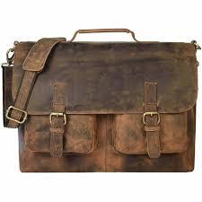 premium vintage leather briefcase