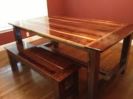 black walnut farmhouse table