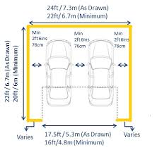 garage door widthsStandard garage dimensions and measurements by length width and