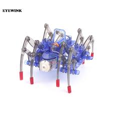 Spider robot <b>DIY technology small production</b> electric crawling ...