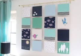 modern quilt fabric wall art pretty