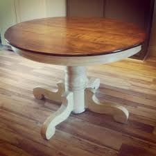 dining table looking for an antique pedestal table like this painted a s old white w clear wax and hints of dark wax