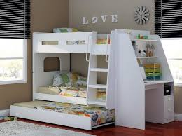 olympic bunk bed with desk trundle oak beech white or full white