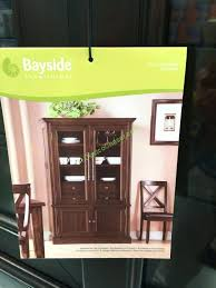 furnishings glass door bookcase show bayside ladder costco